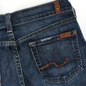 7FAM crystals bootcut distressed jeans beads 26